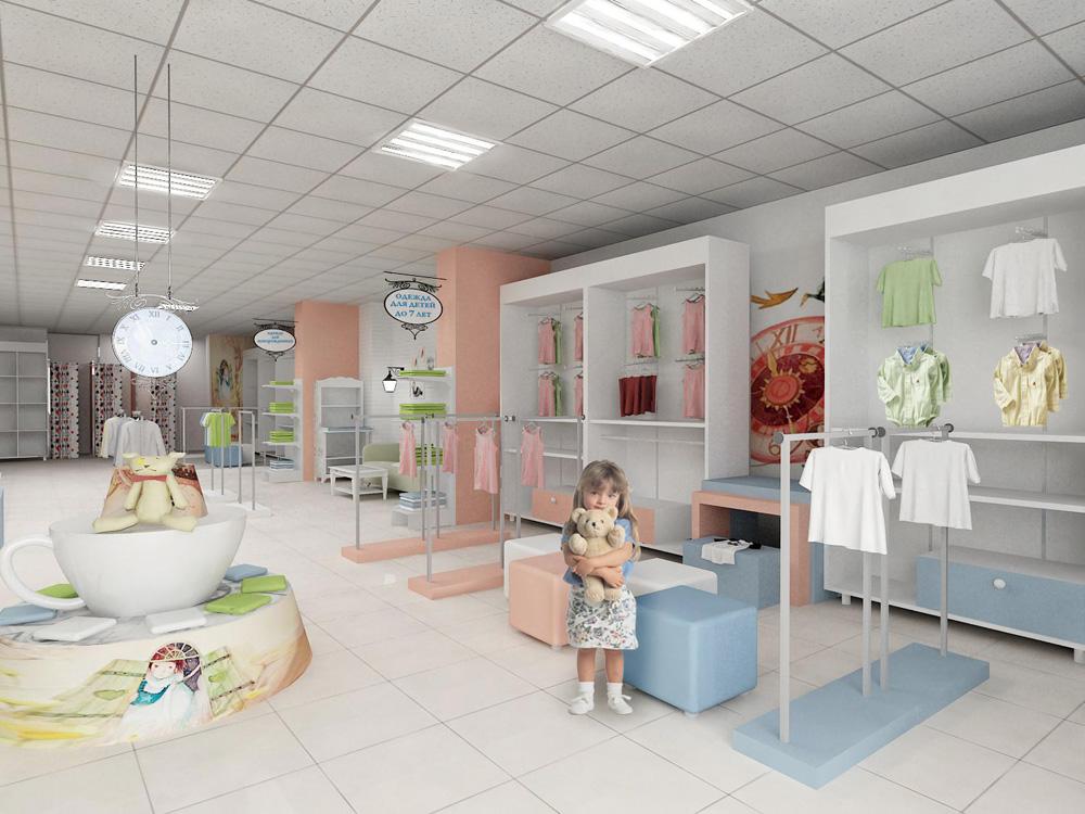Интерьер детского магазина одежды фото