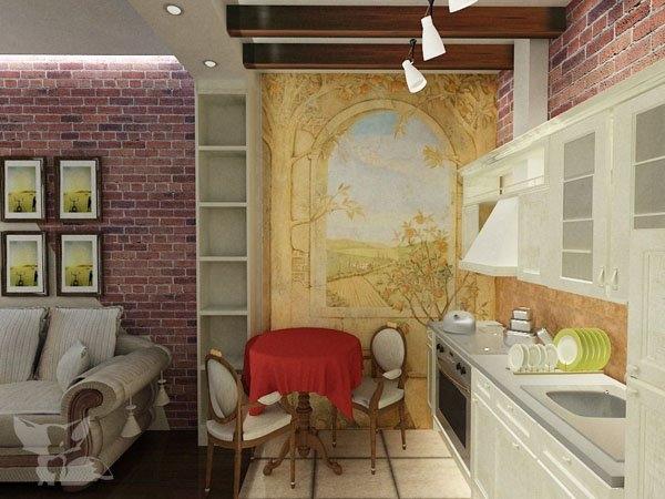 Дизайн проект интерьера 1 комнатной